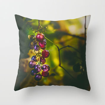 Pinot II Throw Pillow by HappyMelvin