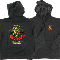 Powell Peralta Cab Dragon Hoodie/Sweater Medium Charcoal