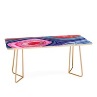 Viviana Gonzalez AGATE Inspired Watercolor Abstract 04 Coffee Table