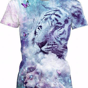 White Tiger - Womens T-Shirt
