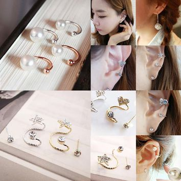 Hot Ear Clip Invisibility Wrap Cartilage Cuff Stud Non Piercing Clip Earring For Women Jewelry