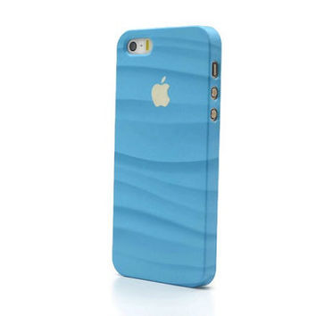 Apple iPhone 5S case blue iPhone 5S case iPhone 6 case iPhone 6 plus case blue iPhone 4S case Apple sign iPhone 5S print case wavy iphone i6