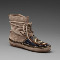 HOUSE OF HARLOW Madison Moccasin in Mushroom at Revolve Clothing - Free Shipping!