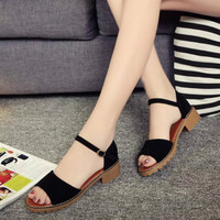 Summer Women Sandals Open Toe Flip Flops Women's Sandals Thick Heel Women Shoes Korean Style Gladiator Flip Flops Platform Shoe