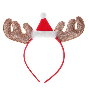 Children Christmas Hat Antler Headband Headdress Christmas Party Props Gifts Hair Accessories Deer Hair Buckle Decoration