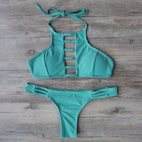 Army Green Swimsuit Bathing Suit Bandage Bikini