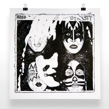 Kiss Screen Print Poster | kiss army screenprint