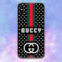 NEW!Gucci.8O8 Stripe Star Case For iPhone 6 6s 7 8 Plus X Samsung Note Cover
