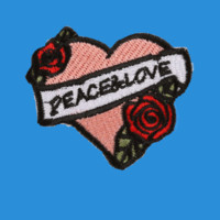Pink Peace & Love Patch