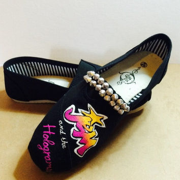 Jem and the Holograms Truly Outrageous Economy Custom Shoes 80's Cartoon Shoes Hand Painted Shoes