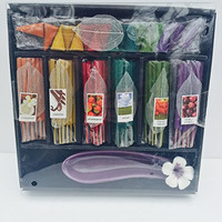 Elegant Expressions by Hosley 79-Piece Incense Gift Set with Purple Holder