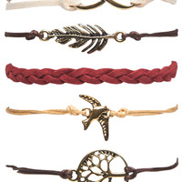 Boho Faux Suede Friendship Bracelet Pack | Wet Seal