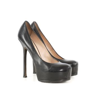 Saint Laurent Black Platform Pumps
