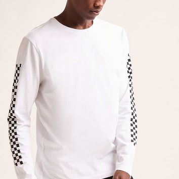 Checkered Long-Sleeve Tee