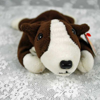 Bruno the Bull Terrier Dog TY Beanie Baby Collectible Retired  - No Feeding Required - No dog tags Necessary -