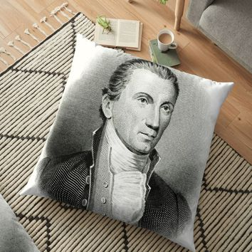 'JAMES MONROE' Floor Pillow by truthtopower