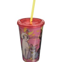 "16oz OFFICIAL Sailor Moon ""Kitties Artemis, Luna and Diana"" PREMIUM Tumbler Tarvel Cup Novelty GIFT (BPA Free)"