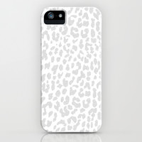 Pale Gray Leopard iPhone & iPod Case by M Studio