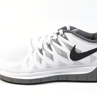 Nike Women's Free 5.0 2014 White/Black/Gray Running Shoes 642199 102