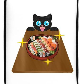 "Anime Cat Loves Sushi 17"" Neoprene laptop Sleeve 10"" x 14"" Portrait by TooLoud"
