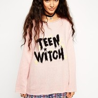 ASOS Jumper with Teen Witch Slogan