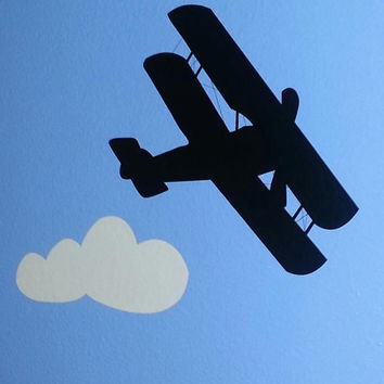 Planes, Airshow, Trains, Automobiles, Vintage, Biplanes, Boys room decor, Vinyl decal, Wall decal, By OTRengraving on etsy