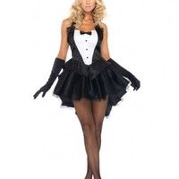 Black White 3 PC Tux And Tails Bunny Costume @ Amiclubwear costume Online Store,sexy costume,women's costume,christmas costumes,adult christmas costumes,santa claus costumes,fancy dress costumes,halloween costumes,halloween costume ideas,pirate costume,d