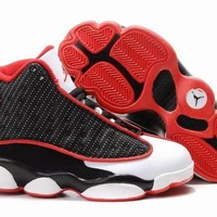 Nike Kids Air Jordan 13 Retro White/Black/Red Sneaker Shoe US 11C - 3Y-1