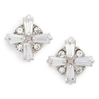 Women's Sole Society Crystal Stud Earrings - Crystal