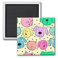 Cute Colorful Pet Pattern Magnet