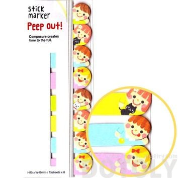 School Kids Children Shaped Peep Out Memo Post-it Sticky Tabs from Japan