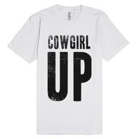 Cowgirl UP | Vintaged Tee-Unisex White T-Shirt