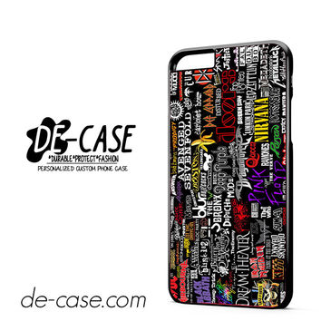 Metal Band Logo Metallica Sticker Bomb ACDC DEAL-7071 Apple Phonecase Cover For Iphone 6/ 6S Plus