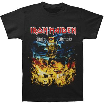Iron Maiden Men's  Holy Smoke T-shirt Black Rockabilia