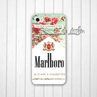 Unique Red Leaf Marlboro iPhone 5 / 5S / 5C case, Mint Green Marlboro Cigarettes iPhone 4s case, iPhone 4 cover, iPod Touch 5 cover