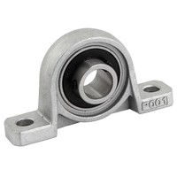 Machine KP001 Set Screw Pressed Steel Solid Base Pillow Block Bearing