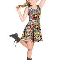 Girls Vintage Mosaic Skater Dress