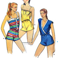 Romper or swimsuit cover-up - Simplicity vintage sewing pattern - Size 8-10-12