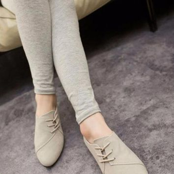 Comfy Shoes. Slip on Nubuck Leather Flats