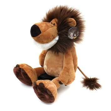 "1pcs 10"" 25cm Popular NICI Lion Stuffed Doll Plush Jungle Series Animal TOYS Free Shipping Best Christmas Gift For Kids"