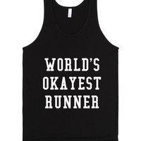 WORLD'S OKAYEST RUNNER TANK TOP WHITE ART IDE04250350