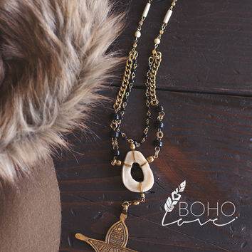 Rustic Love Tribal Pendent Necklace