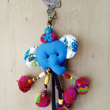 Indie elephant Keychain AVAILABLE IN OTHER COLORS