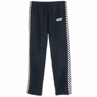 VANS CHECKER SPORTS TRACK PANTS / BLACK