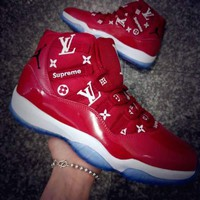 LV x Air Jordan 11 Retro Men and Women Basketball Shoes