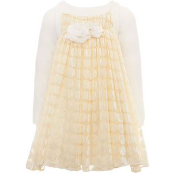Monnalisa - Baby Girls Tulle Polka Dot Dress