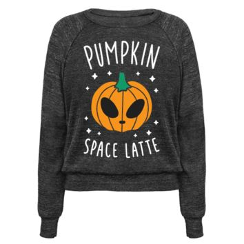 PUMPKIN SPACE LATTE (WHITE) PULLOVERS