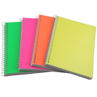 """Bulk Spiral Notebooks with Neon Plastic Covers, 5x7"""" at DollarTree.com"""