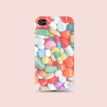 Pastel Pill that Drug me Plastic Hard Case - iphone 5 - iphone 4 - iphone 4s - Samsung S3 - Samsung S4 - Samsung Note 2