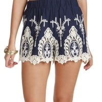 Sale-the Country In My Soul Crochet Shorts